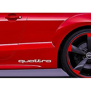 2pcs quattro decal sticker aufkleber quattro tt rs a1 a3 q3 q5 q7 racing. Black Bedroom Furniture Sets. Home Design Ideas