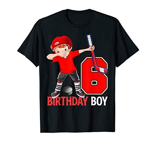 Dabbing Ice Hockey T Shirt 6th Birthday Boys Party Tees (Boys Hockey Jersey)