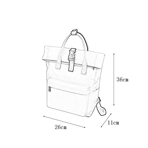 Vertical Agua Sección Estéreo Prueba Estudiante Femenino Funciones Nylon Bolsa Backpack Bolso Viaje Múltiples Mochila A De FU6fpq