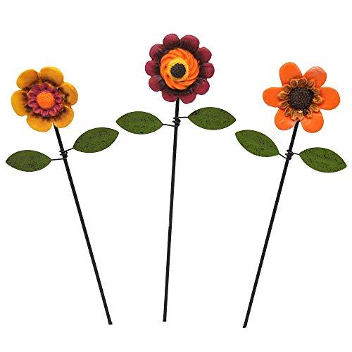 - Miniature Fairy Garden Flower Picks, Set of 3