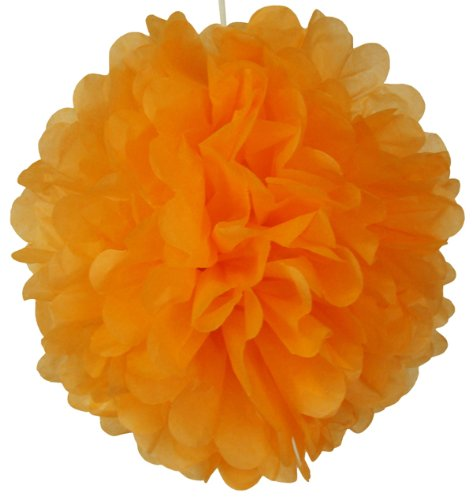 Tissue Pom Pom Paper Flower Ball 25cm Orangesicle -Just Artefacts Brand   B00G5J720Q