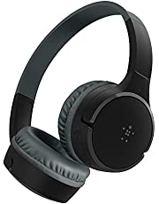 Belkin SoundForm Kids Wireless Headphones with Built in Microphone, On Ear Headsets Girls and Boys For Online Learning, School, Travel Compatible with iPhones, iPads, Galaxy and more