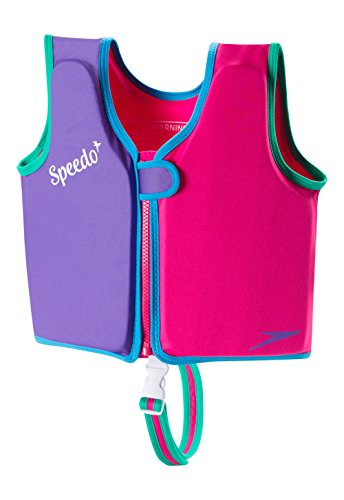Speedo Kids UPF 50+ Begin to Swim Classic Swim Vest, Berry/Grape, Large