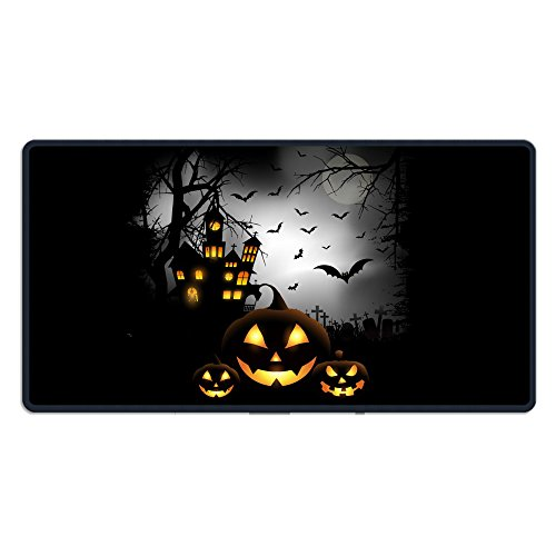 Halloween Background With Pumpkins Rectangle Non-Slip Rubber Mousepad Gaming Mouse Pad Great Gift (Trunk Ideas For Halloween)