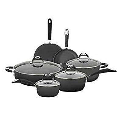 Bialetti 10-pc Aluminum Cookware Set with Silicone Handles Durable non-stick coating