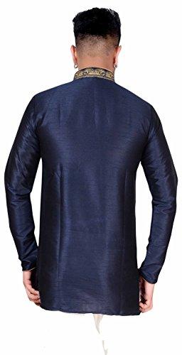 9e550f1707 Men's Indian Kurta Gandhi Collar Short Shirt 2004 (XXXL (Chest- 46 inches)