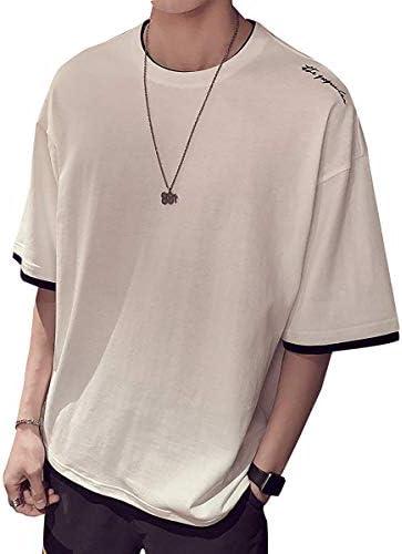 tシャツ メンズ 半袖 夏服 七分袖 無地 カットソー ファッション カジュアル 柔らかい シルエット おしゃれ 薄手 快適 M-3XL (gayato sakura)