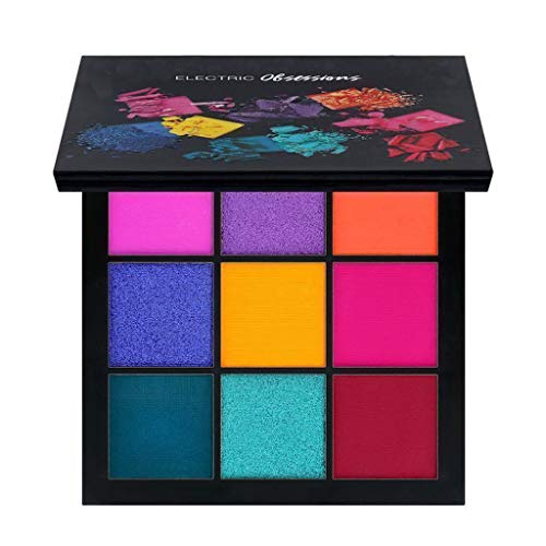 NOGOQU 9 Color Magnificent Matte Glitter Shimmer Pressed Pearls Eye Shadow Makeup Pallet Long Lasting Waterproof (C)