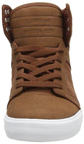 Sneaker Uomo Supra Uomo In Pelle Di Castagno / Nylon Balistico Uomo 8, Donna 9,5 D (m)