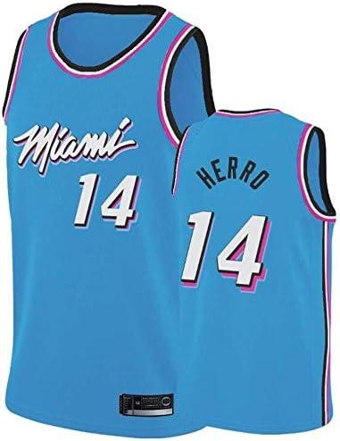 Shelfin Nba Jerseys Nba Men S Jerseys Miami Heat No 14 Herro Jerseys Breathable Embroidered Basketball Swingman Jerseys Color Light Blue Size L Amazon Co Uk Kitchen Home