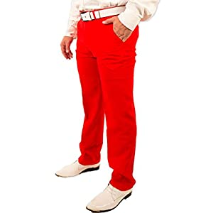Men's Classic Party Pants in Red By Festified