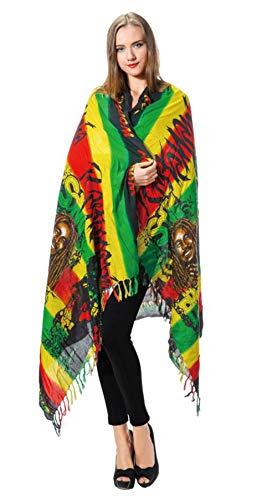Blanket Plaid Rayon - Women's Fashion Long Raasta Soft Silky Reversible Paisley Rayon Shawl Wrap Scarf w/Fringes