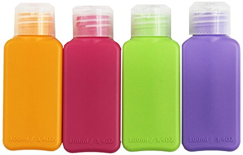 Ikea Travel Size Bottles 8 Pack, 4 colors, for cosmetic prod
