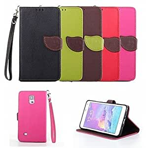 GX Teléfono Móvil Samsung - Carcasas de Cuerpo Completo - Diseño Especial - para Samsung Galaxy Note 4 ( Negro/Rojo/Verde/Marrón/Rosa , Cuero PU )