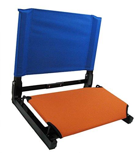 Patented Orange Bottom with Royal Back Canvas Stadium Chair Bleacher Seat