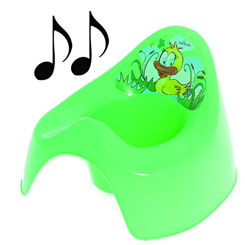 Easy Clean Toilet Potty Training Baby Kids Toddler Fun Colourful Animal Duck (Green)