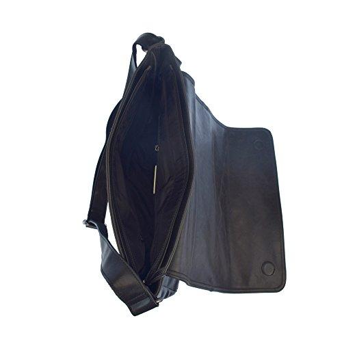 bolsillo ASSN S cm Negro POLO con hombro de Bolsa grande U frontal 36x10x28 B6gxEq8wdx