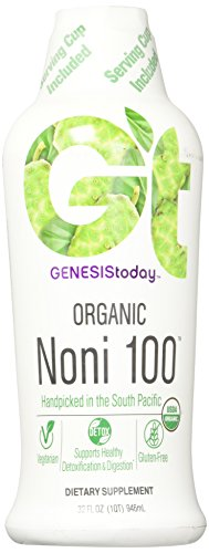 Genesis Today, Organic Noni 100, 32 Ounce