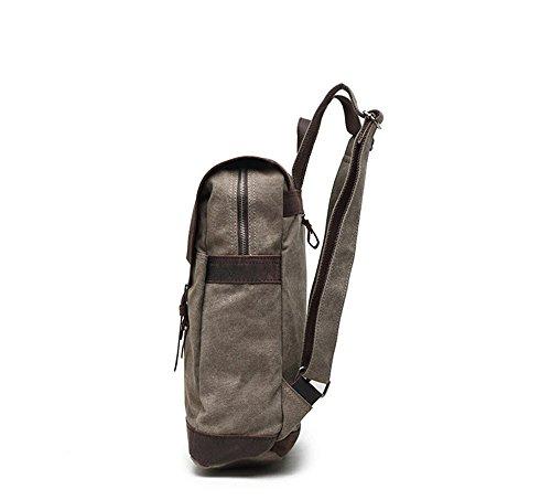 Rucksack Stoff Tasche Vintage Portable Leinentasche Schultern Männer Reise Tragbare Verdicken Verstärkte Daypacks Wandern Camping Trekking Jagd Armeegrün