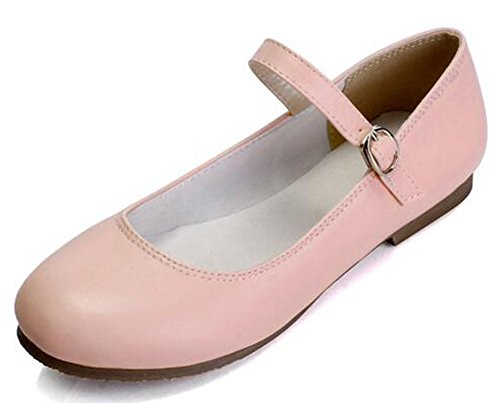 Easemax Women's Casual Round Toe Low Top Flats Mary-Jane Shoes