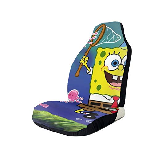 Car Seat Cover Front Seats - Sponge-bob Catch The Jellyfish Printed Car Seat Covers 1/2 Pcs, Car Seat Covers Fit Most Car, Truck, SUV or Van