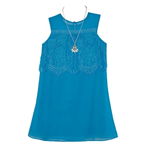 Amy Byer Girls Big Aline-Sleeveless-Popover