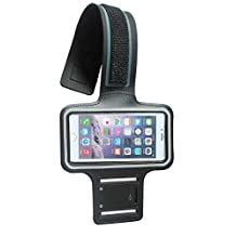 Black Soft Neoprene Material Workout Outdoor Sport Running Cover GYM Armband Case pouch For Samsung Galaxy S4 i9500 / Motorola Moto X / LG Nitro HD / Samsung Galaxy S3 i9300 / HTC one X S XC XL 8X / HTC ONE MINI / Nokia Lumia 1020 / Nokia Lumia 920