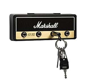Marshall JCM800 Standard Jack Rack V2.0- Wall mounted guitar amp key holder includes 4 guitar plug keychains and wall mounting kit