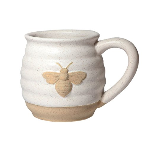 DEI 10490 Ceramic Mug, 5.5 x 4.25 x 4.0, Tan