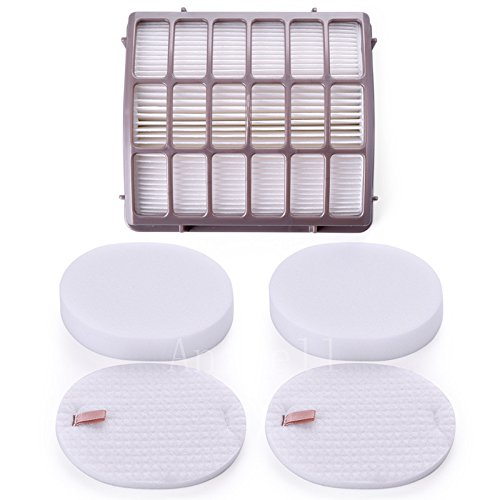 Anicell Shark Navigator Professional Replacement Filters for Shark NV70, NV80, UV420 Vacuum Cleaner - Part # XFF80 & XHF80, includes 1 HEPA Filter Plus 2 Foam & Felt Filter Kit