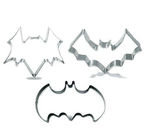Efivs Arts Halloween Batman Cookie Cutters Stainless Steel Cookie Cutter Fondant Cutters 3 Pcs (Halloween Bat Art)