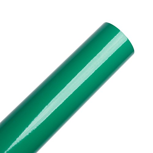 Glossy Kelly Green Permanent Adhesive Backed Vinyl Paper 12x10ft