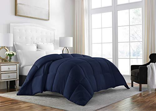 Sleep Restoration Down Alternative Comforter 1400 Series - Best Hotel Quality Hypoallergenic Duvet Insert Bedding - Twin - Navy