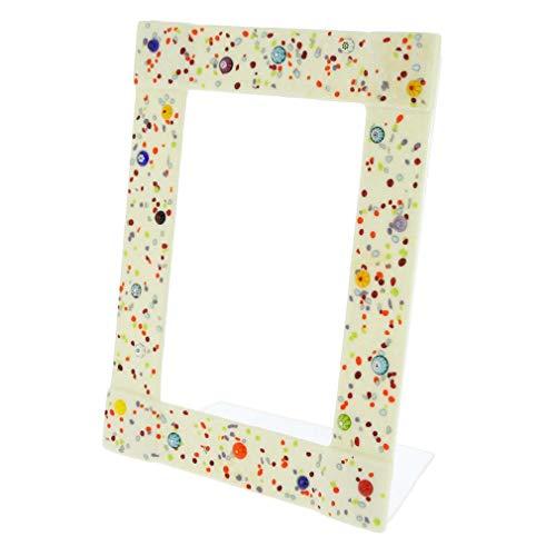 GlassOfVenice Murano Glass Photo Frame Pantalon 4X6 Inch - White