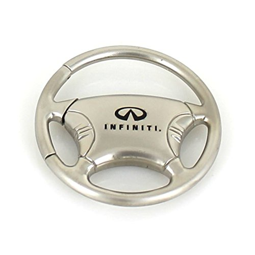 Infiniti Logo Car Steering Wheel Key Chain Automotive Gold