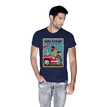 Creo Auto Repair Beach T-Shirt For Men - L, Navy Blue