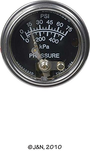 20P75 - F.W. Murphy, Oil Pressure Gauge by Parts Express