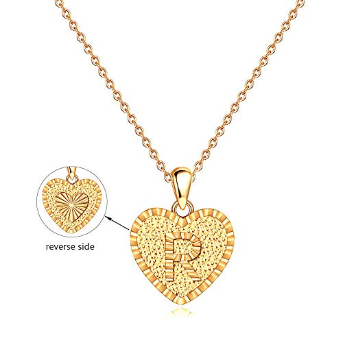 Initial R Necklace Gifts for Women - 14K Gold Filled Heart Pendant Letter Initial Necklaces for Women Girls Kids, Initial Alphabet Monogram Necklace Jewelry Best Bridal Shower Gifts for Women Girls (Name For Christian Baby Boy With Meaning)