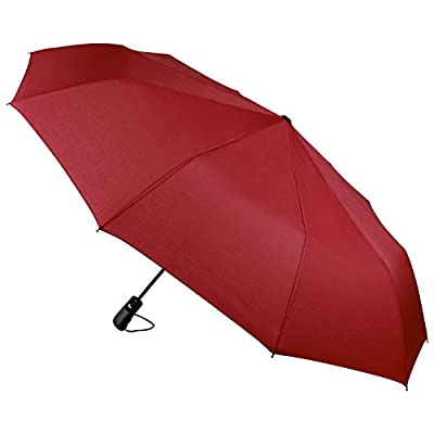 """Umbrella, Rdxone Large Travel Umbrella Golf Umbrella Auto Open Close, """"Unbreakable"""" Portable 10 Ribs Automatic Windproof Canopy Compact with Collapsible"""