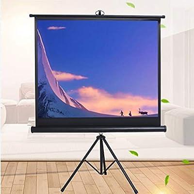 Pantalla de proyector para presentación de Office Pantalla Mobile Projector con soporte - antiarrugas Películas de pantalla - pantalla de 16: 9 HD trípode for el teatro casero cine al aire libre
