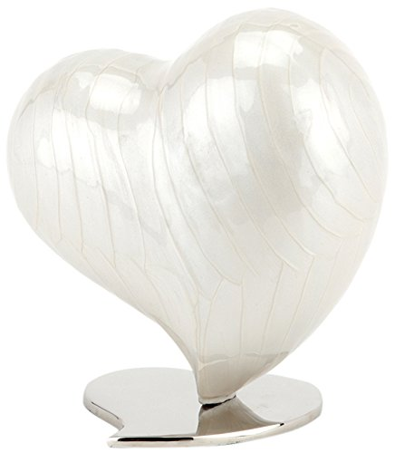 Urns UK Cremation Ashes Urn, Heart, Large, Watford Pearl