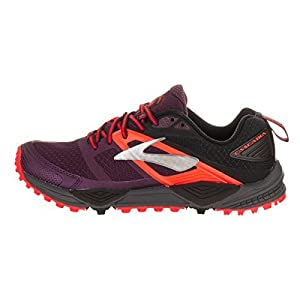 Brooks Women's Cascadia 12 Pickled Beet/Black/Fiery Coral 11 B US