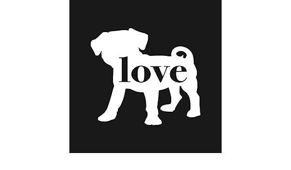 Pug Beagle Love Car Window Vinyl Decal Sticker Puggle Home Kitchen Kolenik Home Décor