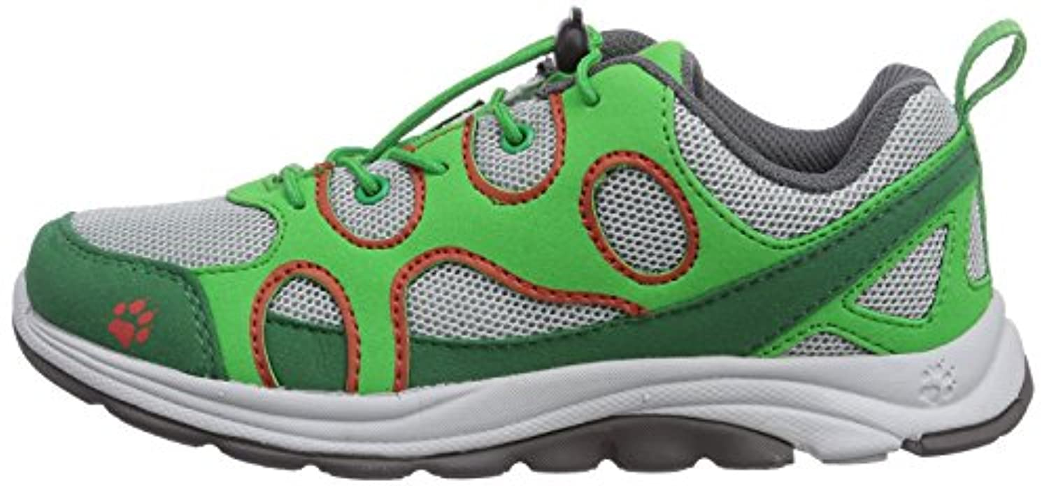 Jack Wolfskin Southpark Low K, Unisex Children's Trainers, Green (Cucumber Green 4033), 1 UK
