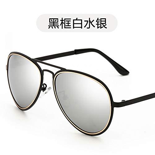 Sol Gafas Gafas white Sol para de de de Conducir para Sol Black Retro Metalizadas Moda Black Mercury polarizadas Frame Hombre Mujer Burenqiq de polarizadas Gafas de frame Blanco Gafas mercury y Sol AvqIwIE
