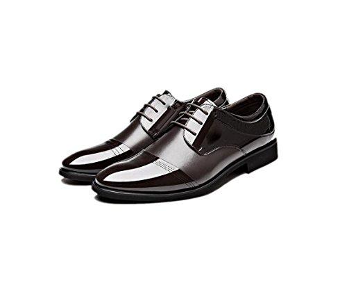 Sports Chaussures Pointu Hiver Printemps Rond Cuir zmlsc Couleur Hommes Automne Ruban Occasionnels Brown Été Affaires Doux 67pxq5w0