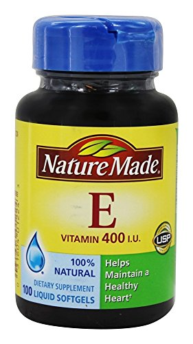 Nature Made Vitamin E 400 I.U. Softgels 100 ea (Pack of 2)