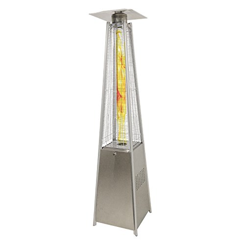 RoyalFire RFLC012PH-P-13KW Royal Fire 13kW Stainless Steel Pyramid Patio Heater with Quartz Glass Tube, 52x52x227 cm