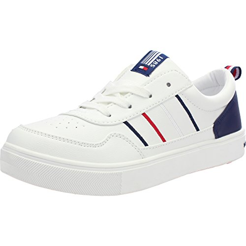 Tommy Hilfiger T3X4-00158-0051X White Synthetic Youth Trainers White