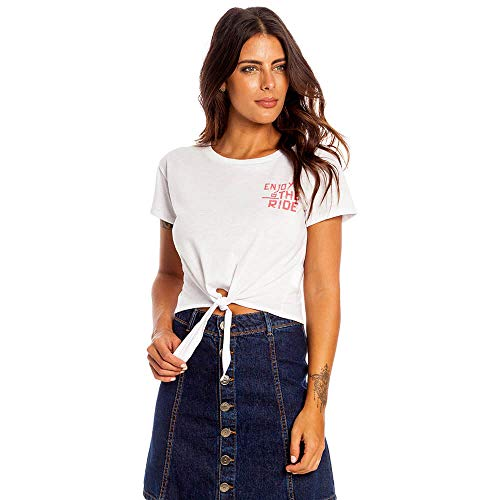 Camiseta Cropped Enjoy The Ride Feminino Hang Loose Branco - P